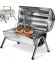 Barrel barbecue portable double plaque grille